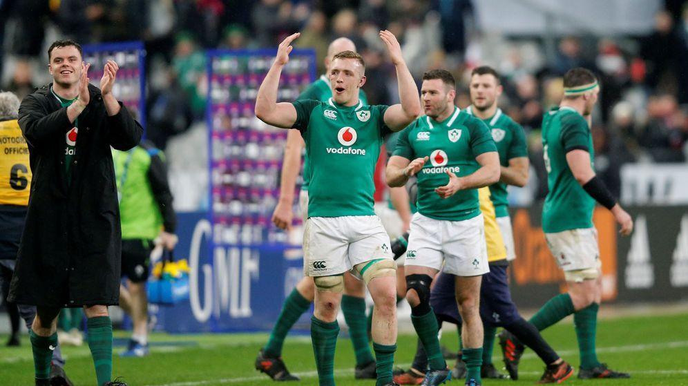 Foto: Irlanda consiguió en Francia una victoria que puede ser crucial para sus aspiraciones en el Seis Naciones. (Reuters