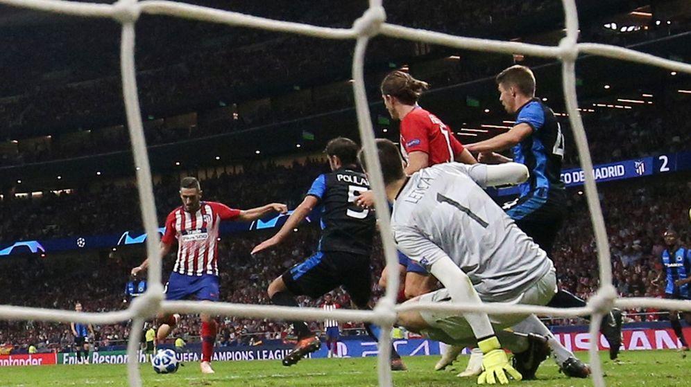 Foto: Imagen del partido de Champions entre Atlético de Madrid y Brujas. (REUTERS)