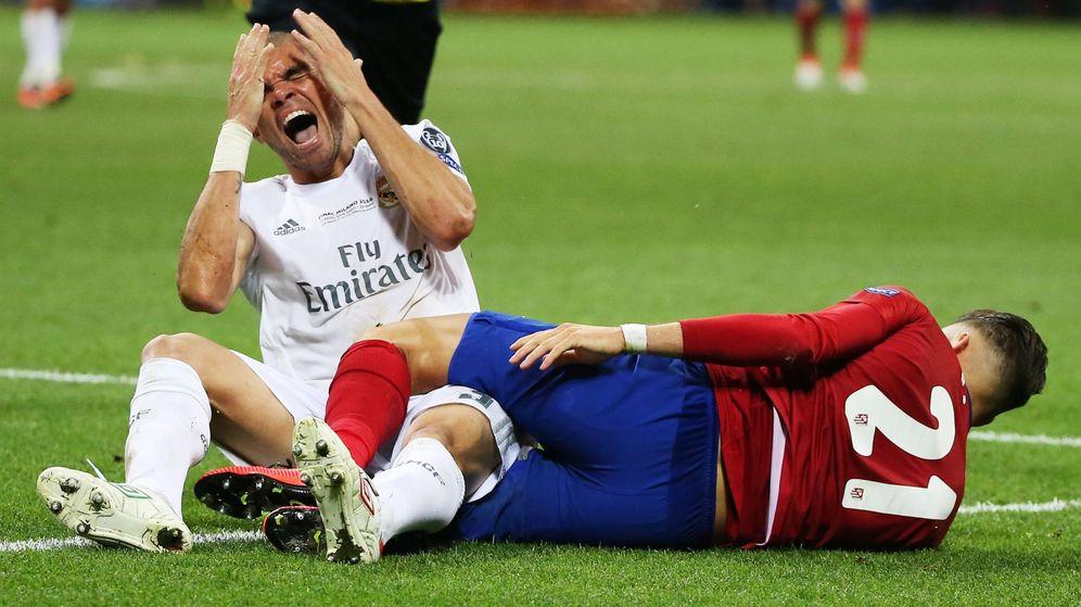 Foto: Pepe, jugador del Real Madrid, durante la final de Champions (Oliver Weiken/EFE/EPA)
