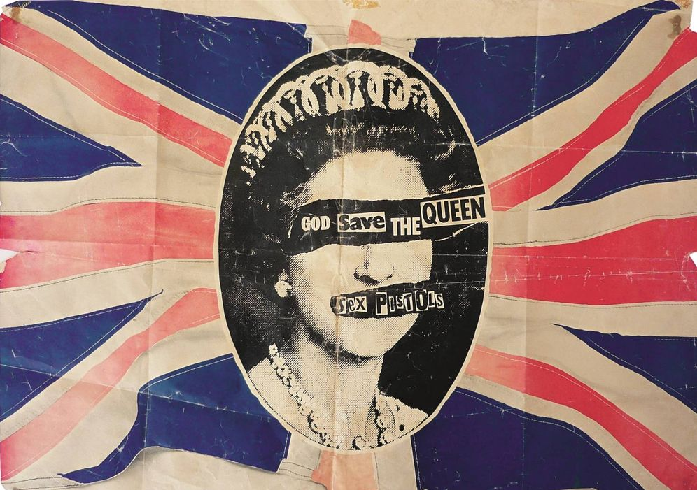 Foto: Póster de 'God Save the Queen', de los Sex Pistols (1977) (The Mott Collection / Sex Pistols Residuals)