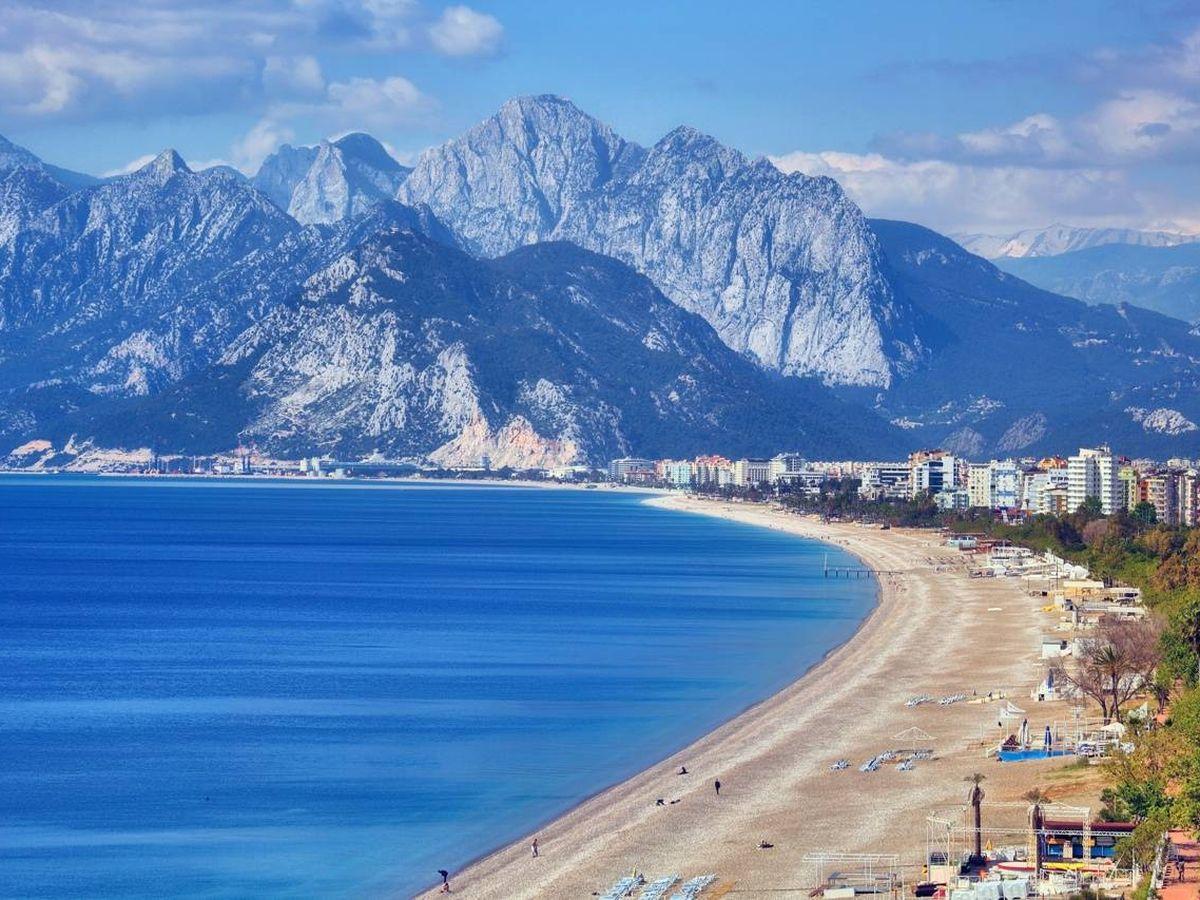 Foto: Una de las playas de la región de Antalya, en Turquía.