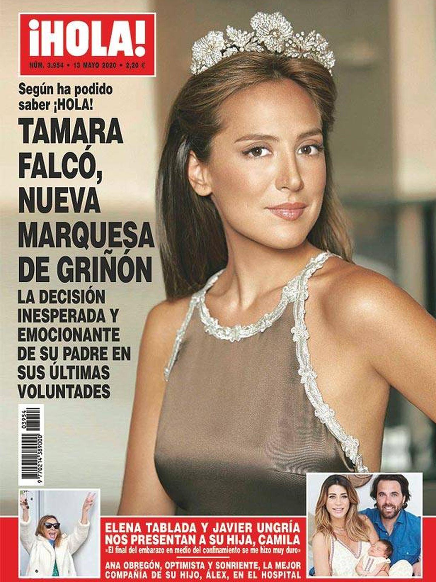 En la ventana inferior izquierda de la portada de '¡Hola!', vemos a Ana Obregón muy esperanzada.