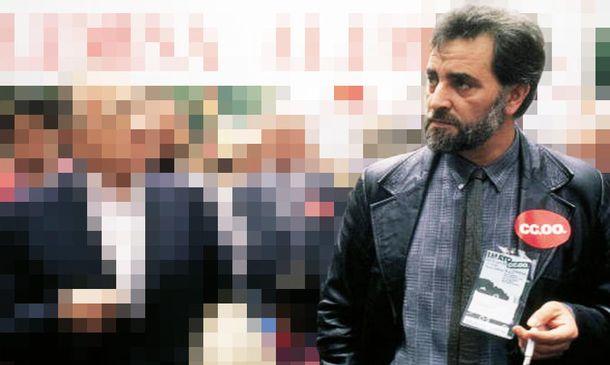 Foto: Anguita junto a Carrillo en una manifestación convocada por CCOO en 1988. (Foto: EFE)