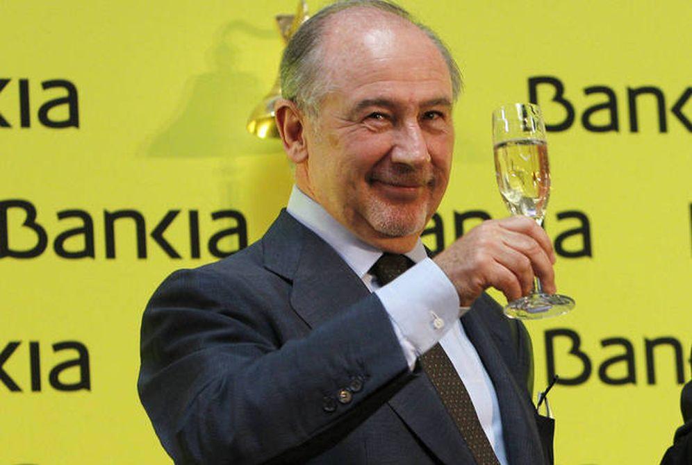 Foto: El expresidente de Bankia Rodrigo Rato, en la salida a bolsa de 2011. (EFE)