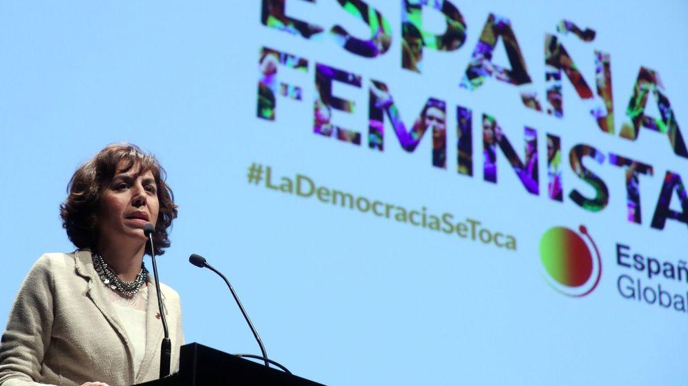 Foto: Irene Lozano, en un acto de España Global. (EFE)