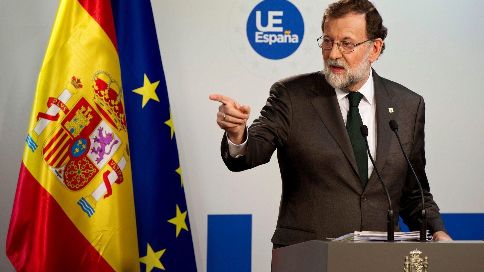 """Foto: Rajoy defiende su obligación de actuar en Cataluña frente a """"una situación límite"""". (EFE)"""