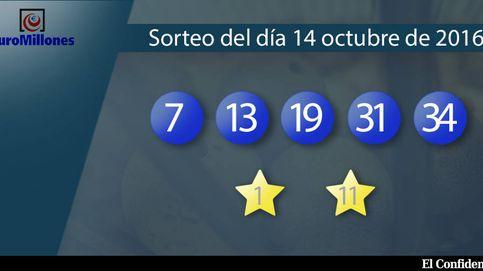 Resultados del sorteo del Euromillones del 14 de octubre de 2016