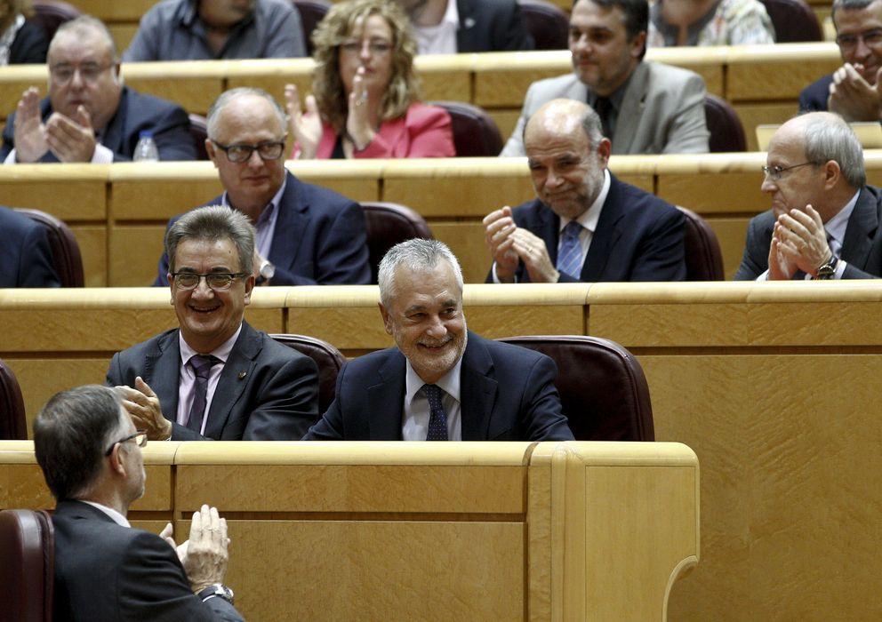 Foto: El expresidente andaluz José Antonio Griñán (c), sentado en su escaño del Senado. (EFE)