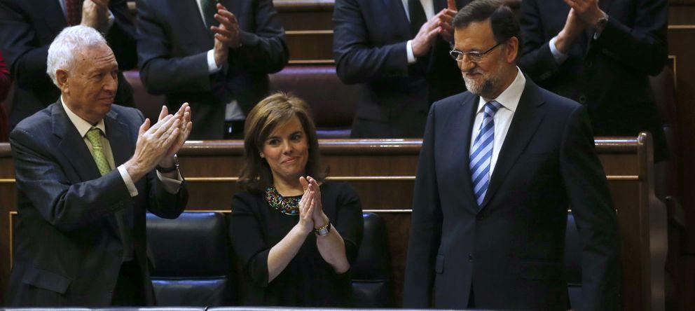 Foto: Mariano Rajoy tras su intervención (Reuters)
