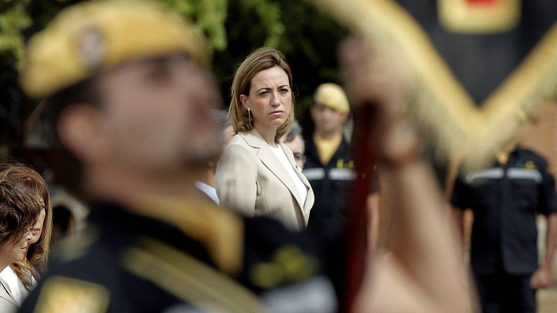 La ministra de Defensa durante el Gobierno de José Luis Rodríguez Zapatero, Carme Chacón.