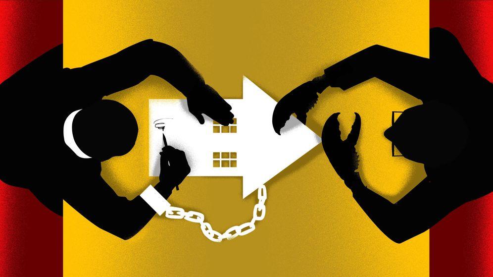 Foto: Millones de hipotecas firmadas ante notario incluían cláusulas abusivas. (Ilustración: Raúl Arias)