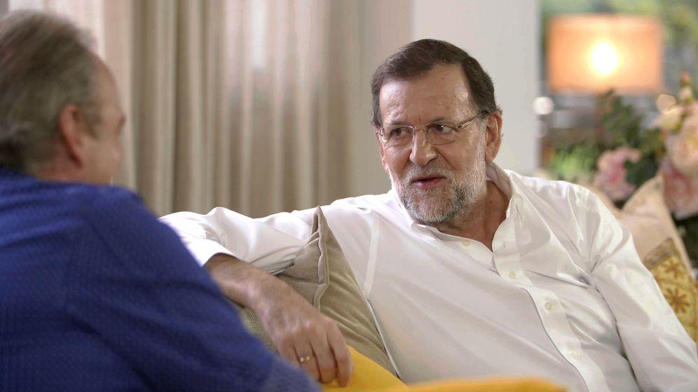 Foto: Mariano Rajoy durante su visita a 'En la tuya o en la mía'.