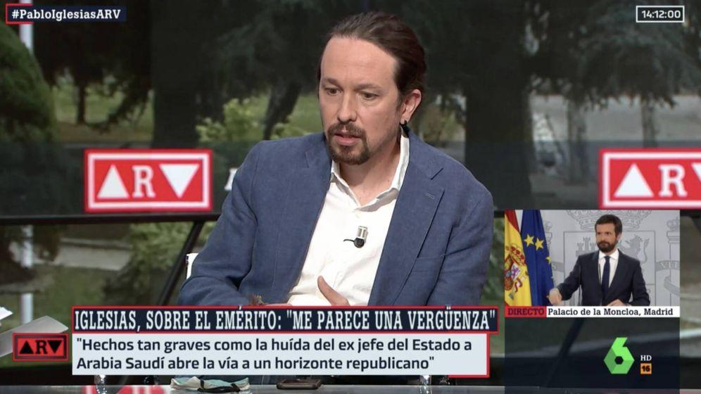 Foto: Pablo Iglesias, entrevistado en La Sexta. (Atresmedia)