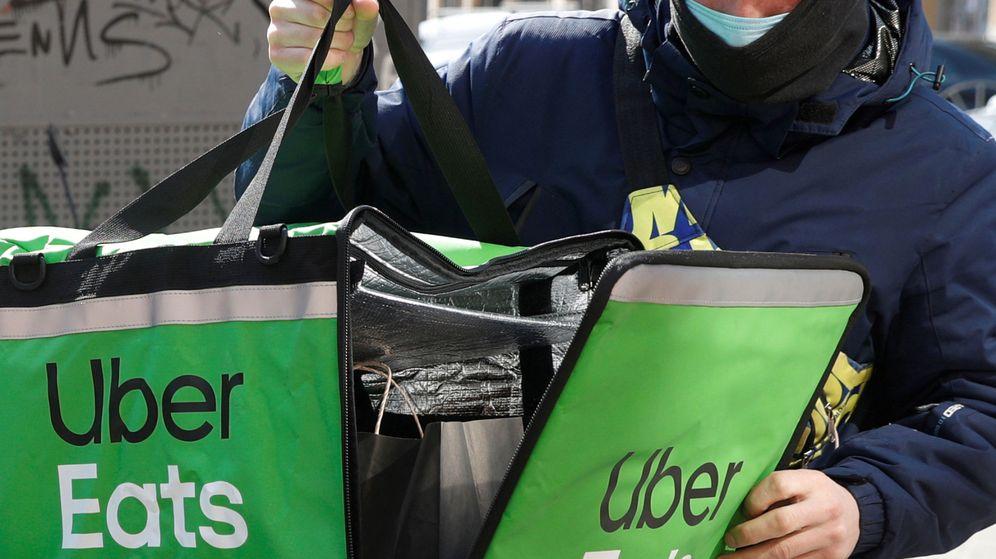 Foto: Repartidor de Uber Eats (Reuters)