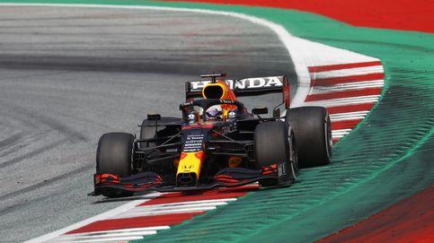 Verstappen se pasea ante Mercedes y Sainz (6º) y Alonso (10º) firman una gran remontada