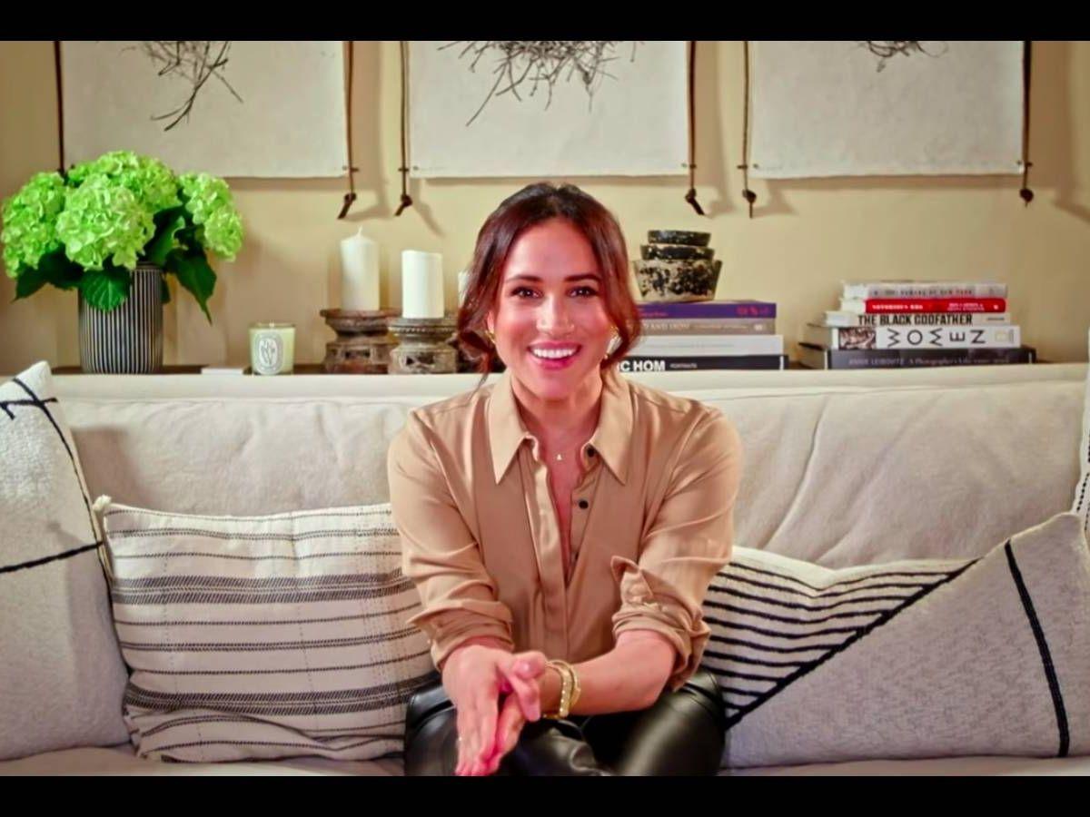 Foto: Meghan Markle, durante su intervención en 'Got Talent'. (YouTube)