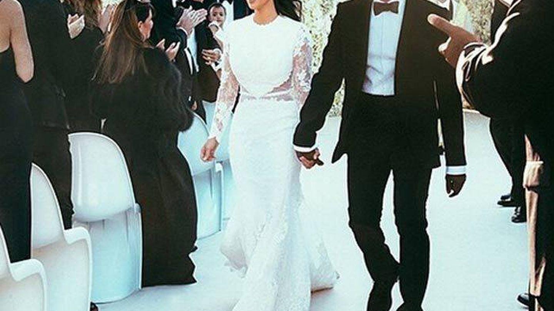 Boda de Kim Kardashian y Kanye West. (Gtres)