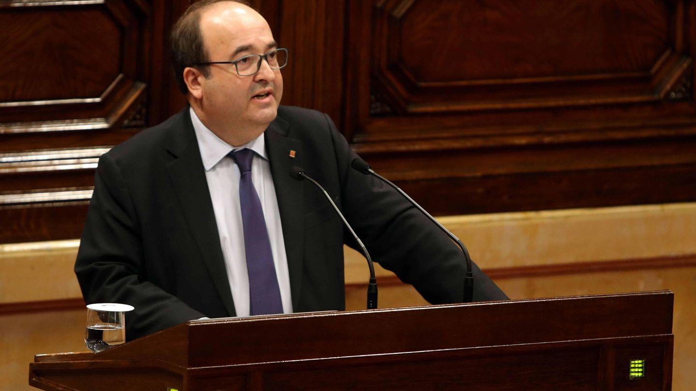 El presidente del grupo parlamentario del PSC, Miquel Iceta. (EFE)