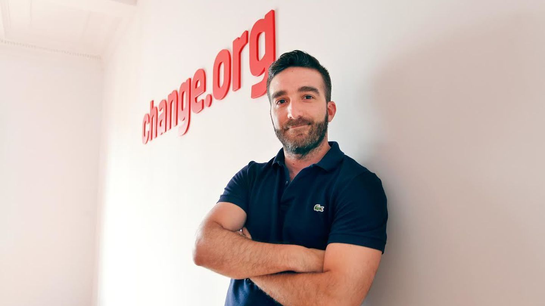 Francisco Polo, en la sede de Change.org. (Kike Villarino)