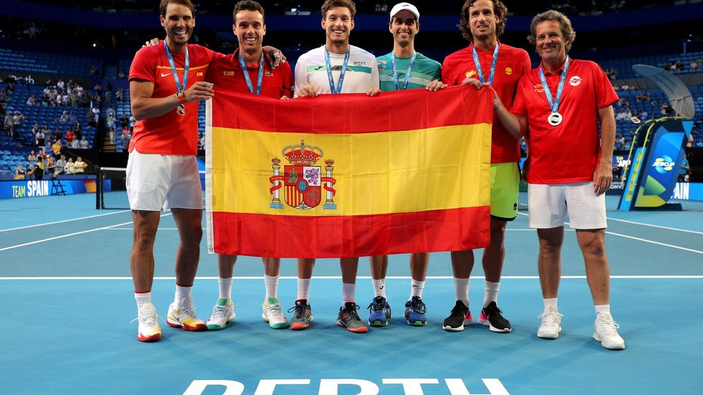 Foto: La Selección de tenis masculina, durante la pasada ATP Cup. (EFE)