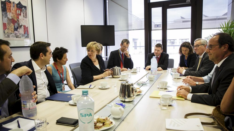 Foto: Los jefes de gobierno europeos negociando en Bruselas (Reuters).