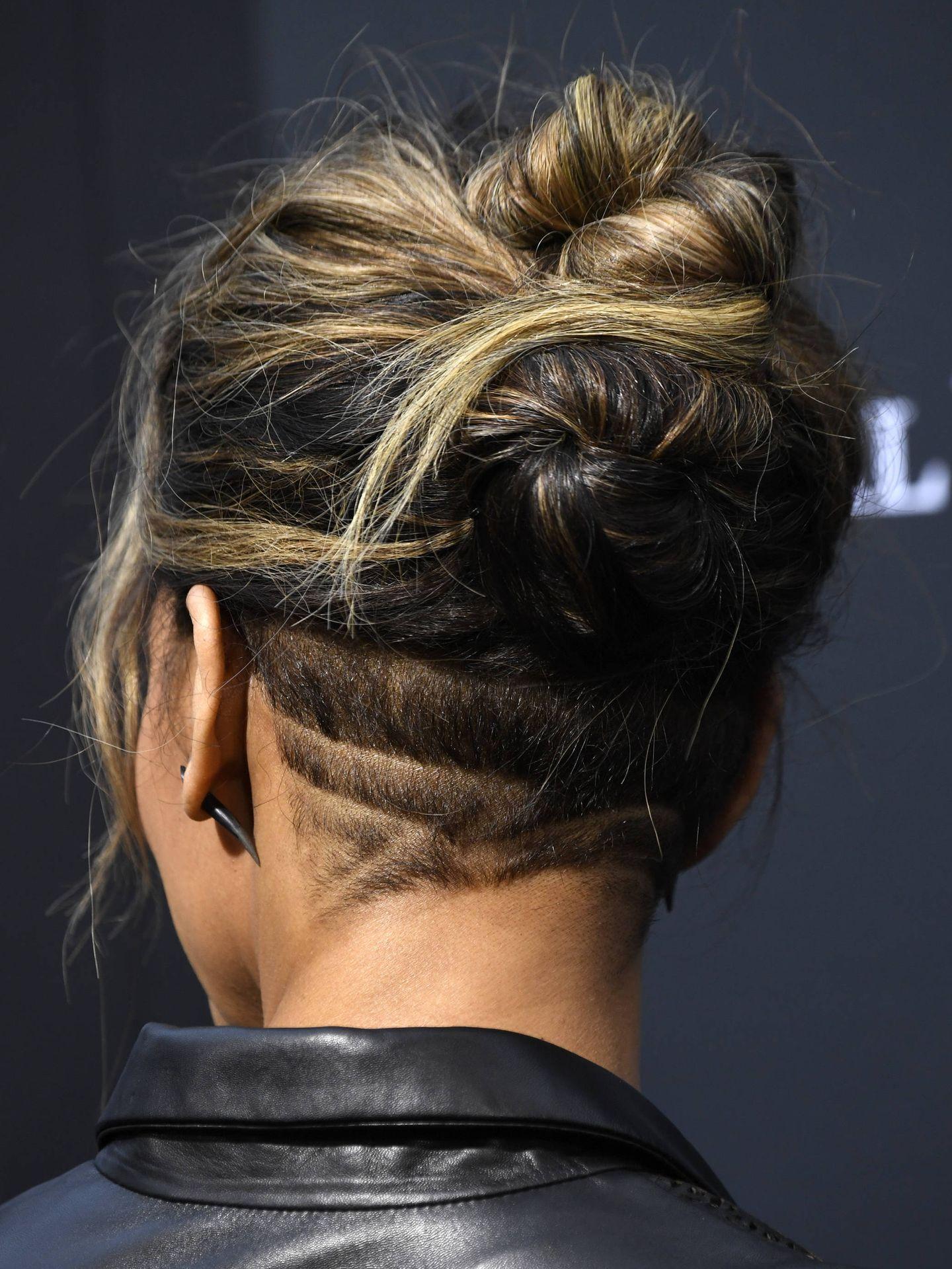 El peinado de Halle. (Getty)