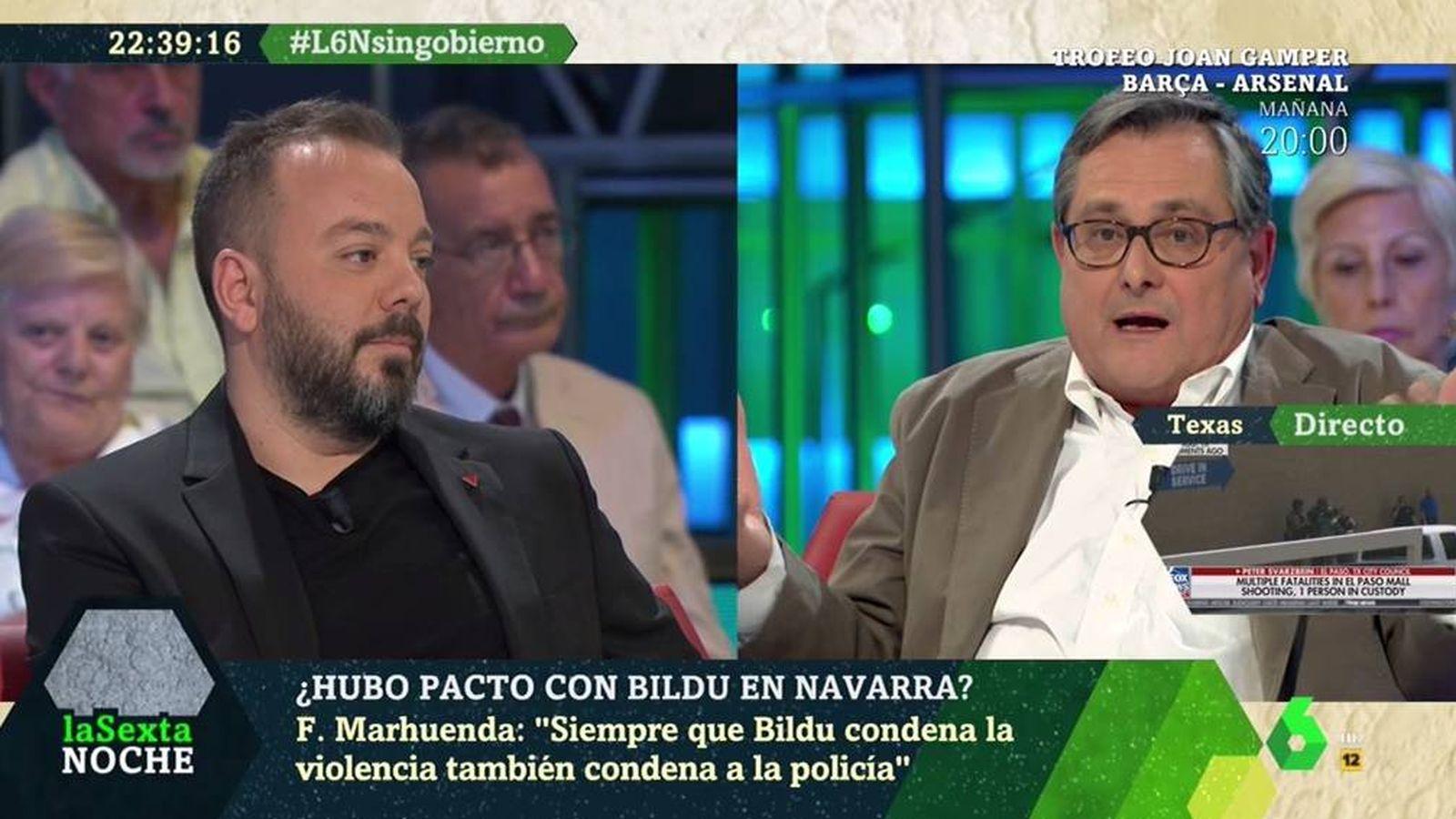 Foto: Antonio Maestre y Francisco Marhuenda. ('La Sexta noche').