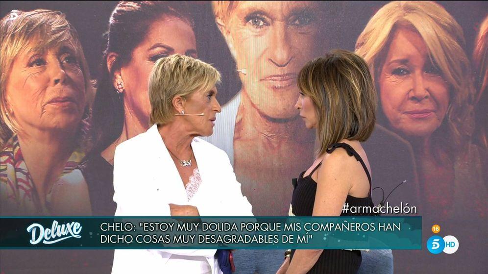 Foto: Chelo García Cortés y María Patiño, en 'Sábado Deluxe'. (Telecinco)