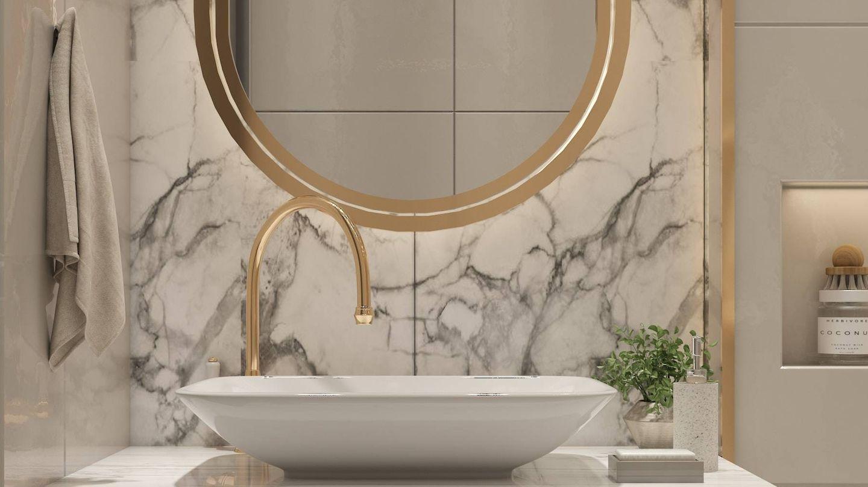 Trucos para que tu cuarto de baño se vea más grande. (Amira Aboalnaga para Unsplash)