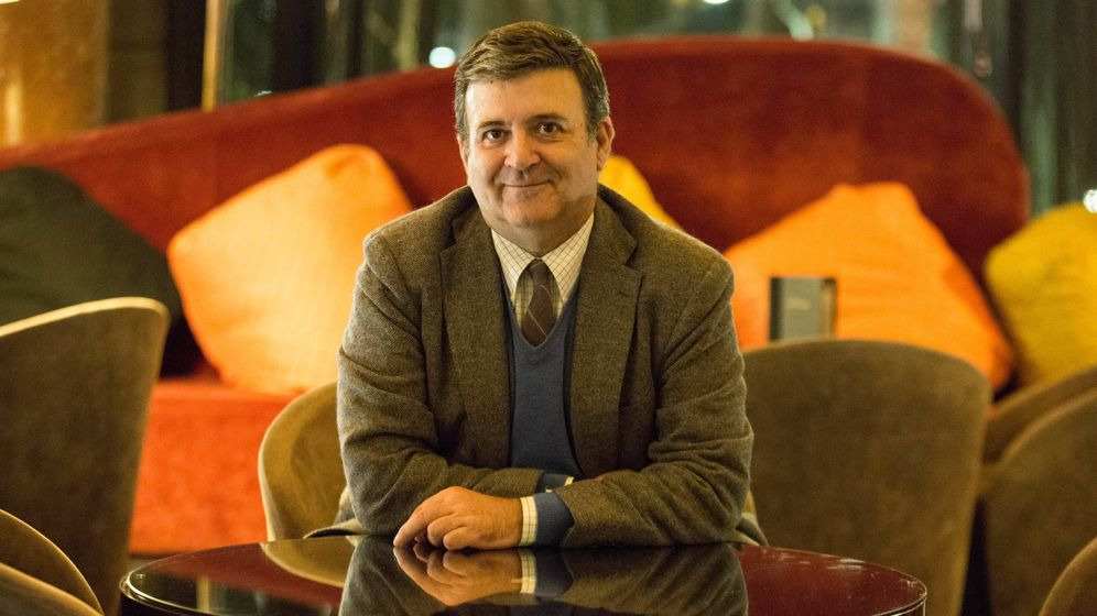 Foto: El notario Alfons López Tena, durante la entrevista esta semana en Barcelona. (D. B.)