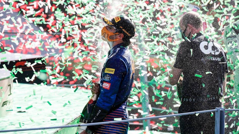 Foto: Carlos Sainz logró su mejor resultado en la Fórmula 1 en Monza, y quedó muy cerca de la victoria (McLaren)