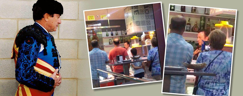 Foto: José Ortega Cano en su bar, en un fotomontaje realizado en 'Vanitatis'