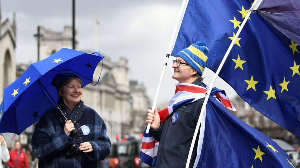 Foto: Manifestantes pro Unión Europea protestan en Londres, Reino Unido, el 29 de marzo del 2018. (EFE)