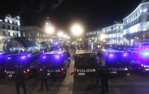 Casi 900 agentes y 1.200 vigilantes blindarán Madrid en la Champions