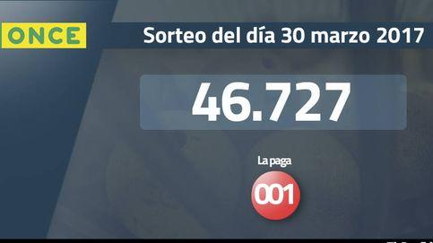 Resultados de la ONCE del 30 marzo 2017: número 46.727