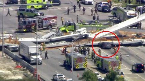 Así se salvó de milagro un conductor en el derrumbe del puente de Florida