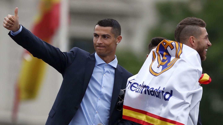 Cristiano Ronaldo durante la celebración de la última Champions. (EFE)