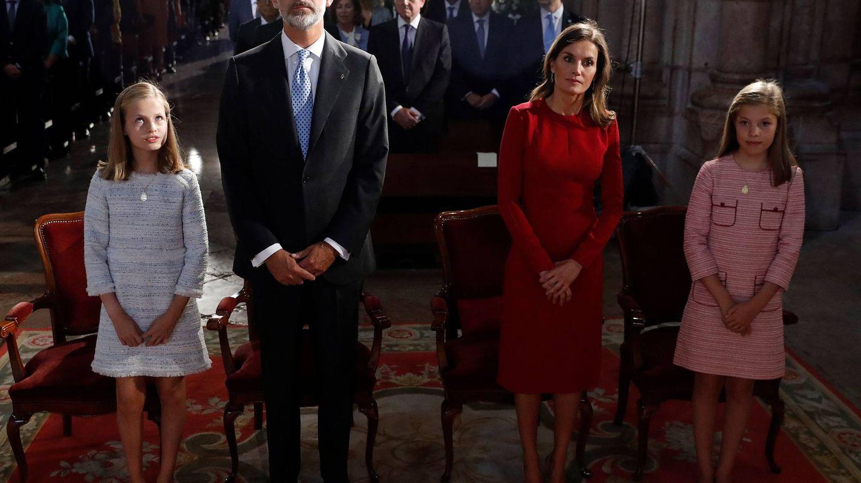 La Familia Real, durante la misa. €€)