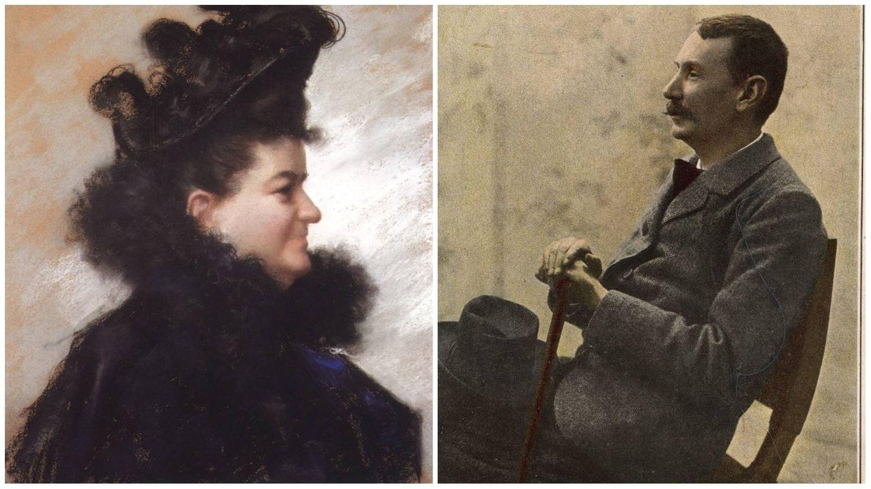 Fotomontaje de los dos prestigiosos autores. (Casa-Museo de Benito Pérez Galdós / Archivo de la RALG)