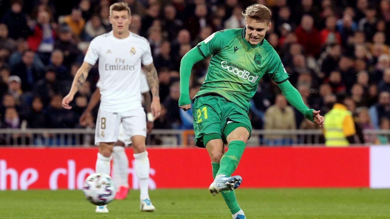 Un Real Madrid desesperado no puede con la fantasía de Odegaard e Isak