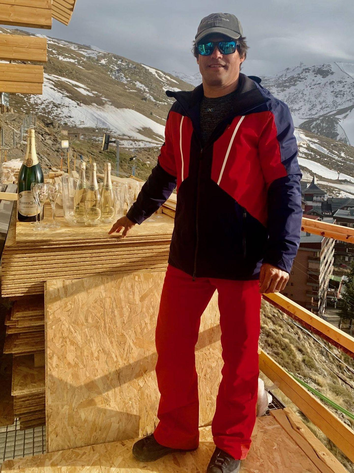 Javier Fal-Conde, en Sierra Nevada.