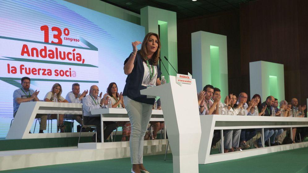 Foto: Susana Díaz, durante su intervención en el 13º Congreso del PSOE andaluz, que se celebra en Sevilla. (EFE)