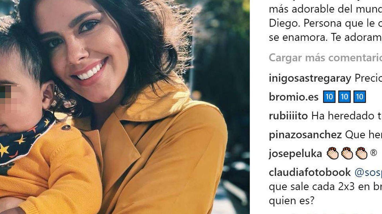 Pedroche con Diego. (Instagram)