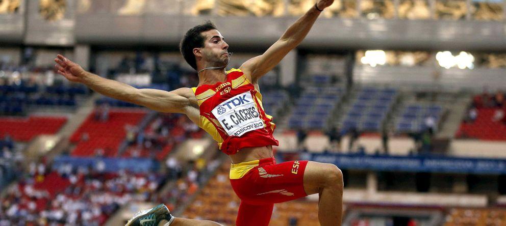 Foto: Eusebio Cáceres, en el Mundial de Moscú (Efe).