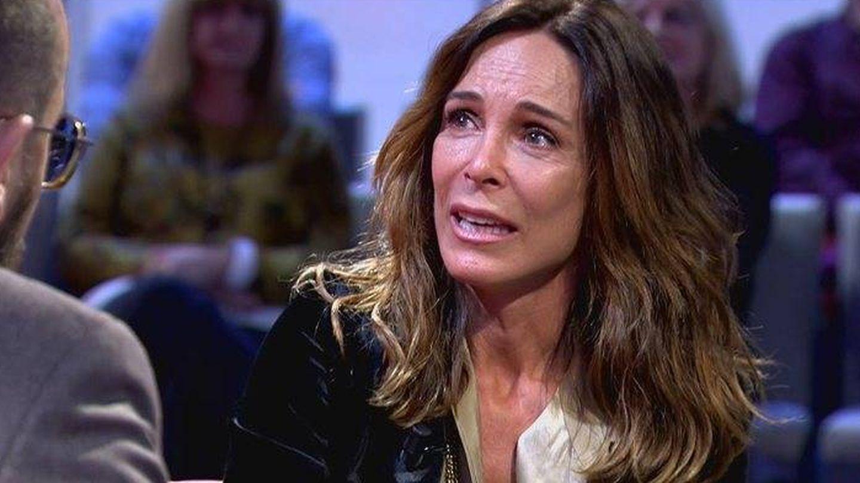 Lydia durante la entrevista con Mejide. (Mediaset)