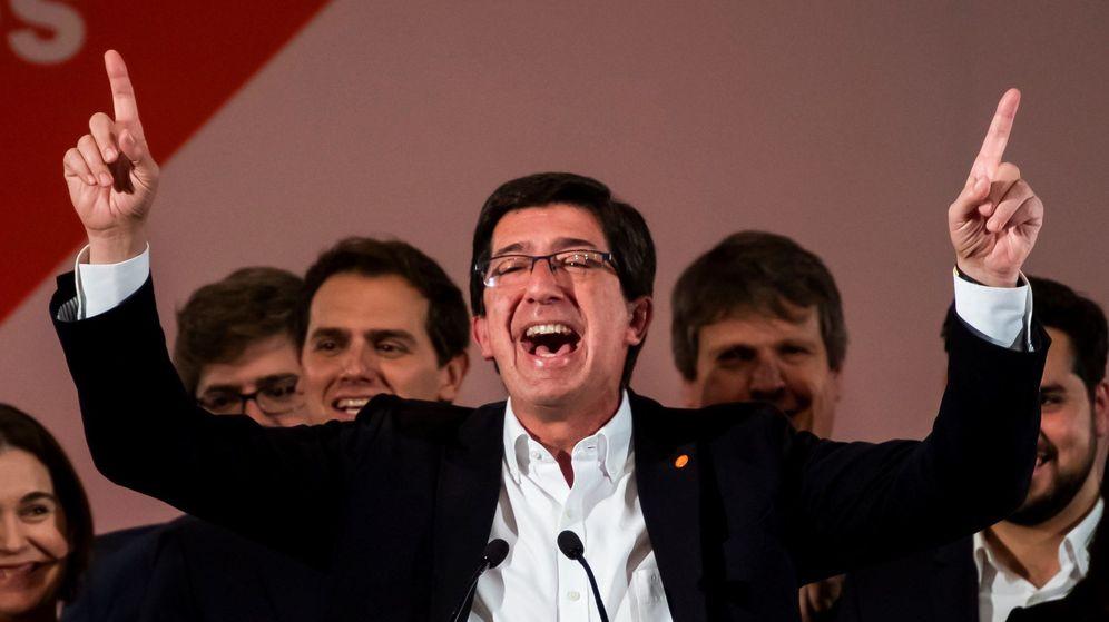 Foto: El candidato de Ciudadanos a la Presidencia de la Junta, Juan Marín. (EFE)