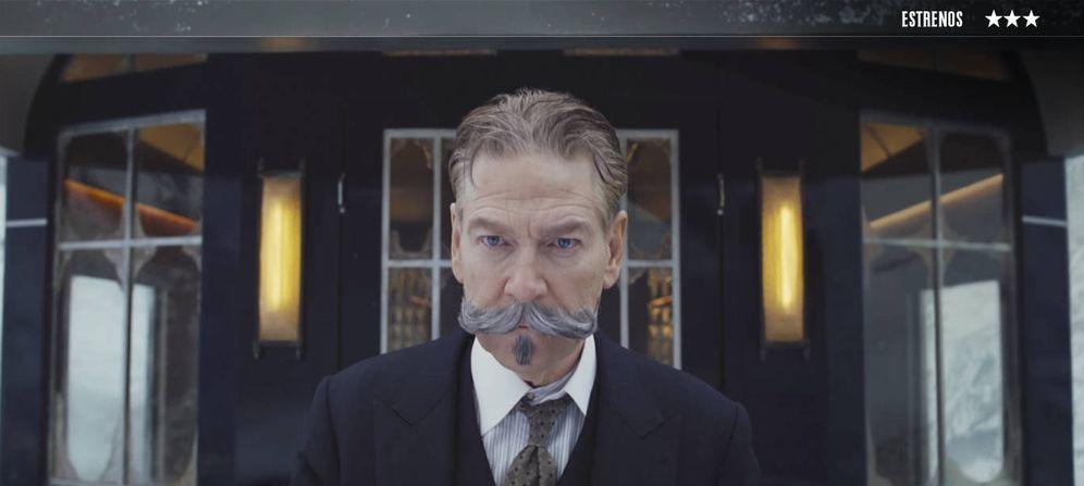 Foto: Kenneth Branagh es Poirot en 'Asesinato en el Orient Express'. (Fox)