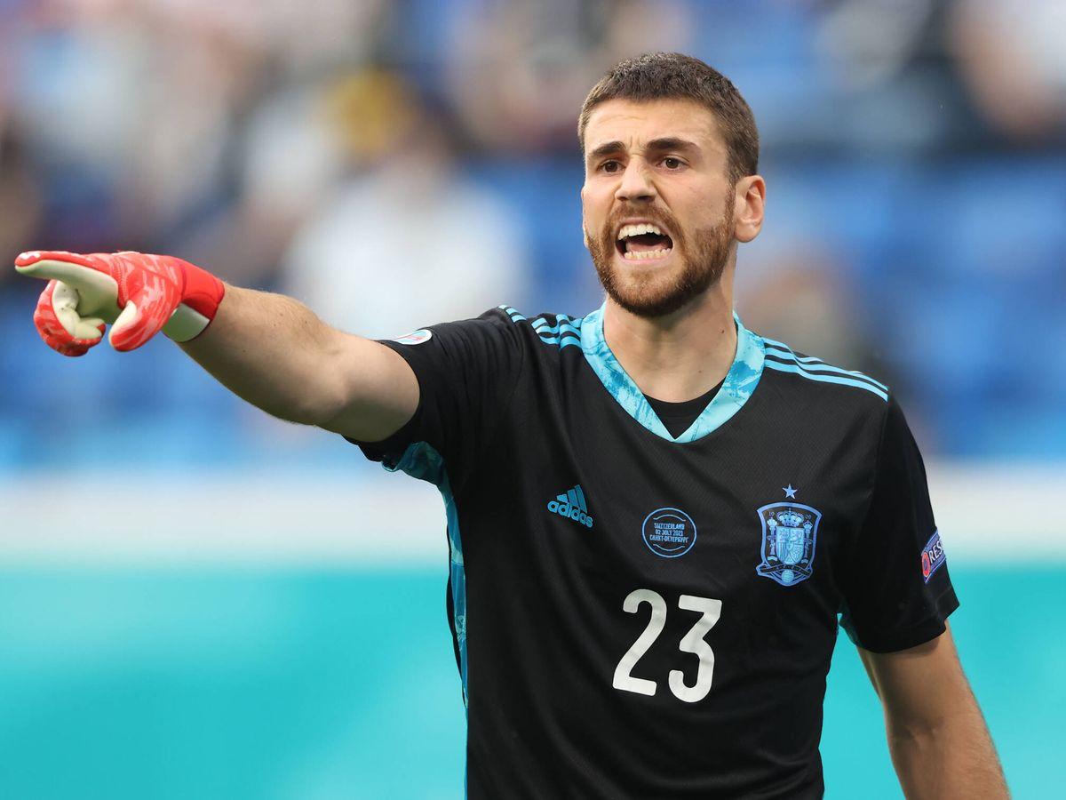 Foto: Unai Simón, el héroe discreto de la Eurocopa. (Getty)