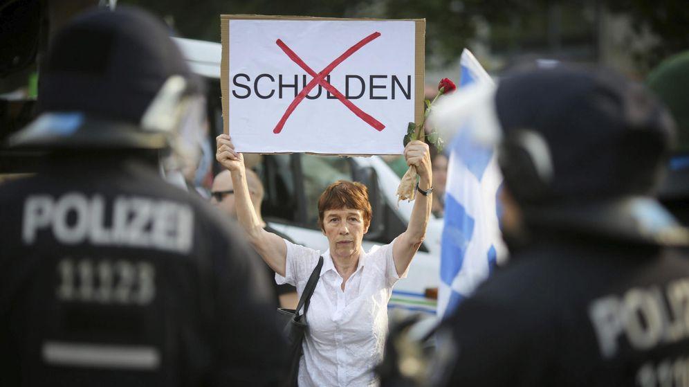 Foto: Manifestación en apoyo a Grecia. (EFE)