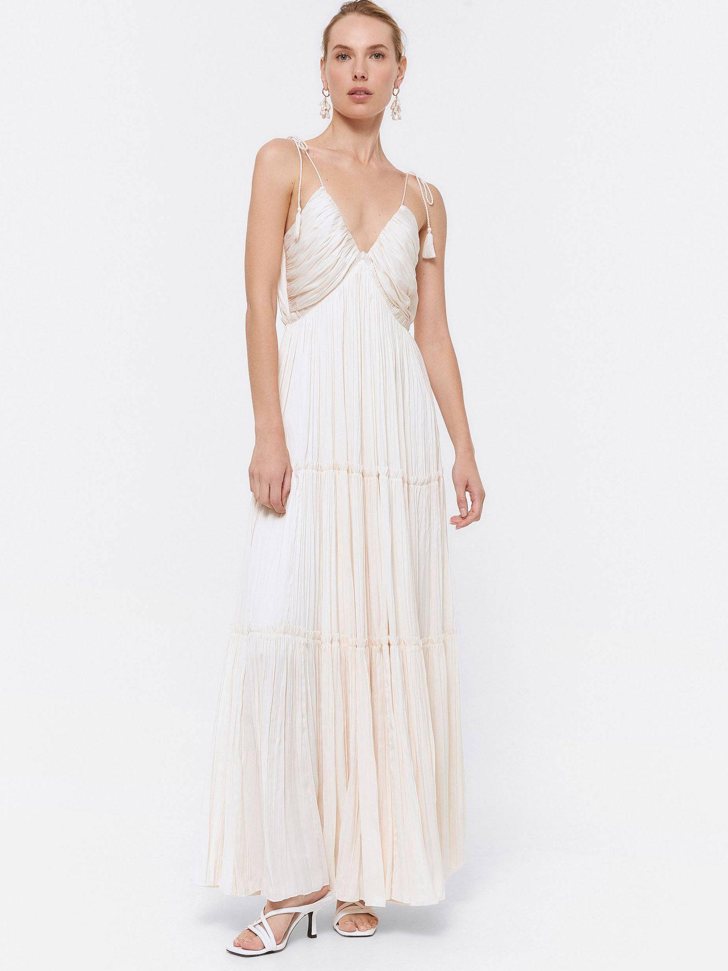 Vestido de novia de Uterqüe. (Cortesía)